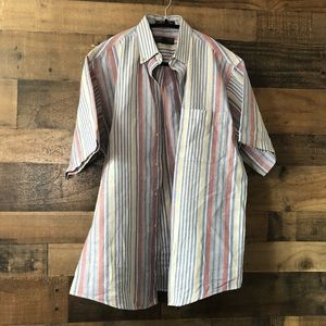 Vintage Claybrooke Striped Button Front